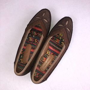 Hush Puppies Moccasin Loafers Brown Leather Size 8